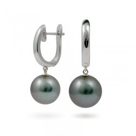 Earrings from 14 karat gold with Tahitian pearls