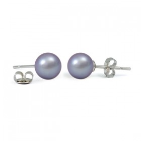 925 Sterling Silver Stud Earrings with Natural Pearls