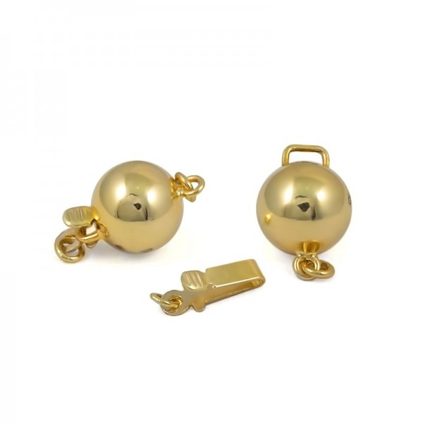 The lock for a necklace from test gold 375, 9 mm