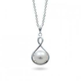 Sterling Silver Pendant with Natural Pearls
