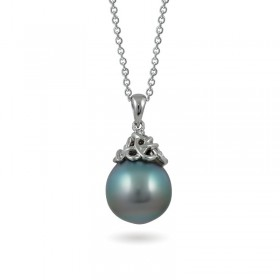 White Gold Pendant 750 with Tahiti Sea Pearls