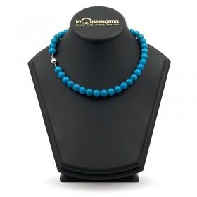 Ожерелье из натуральной бирюзы 9,0 - 10,0 мм