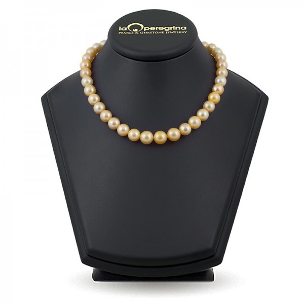 Necklace made of large golden pearls of the southern seas AA + 10.0 - 12.0 mm