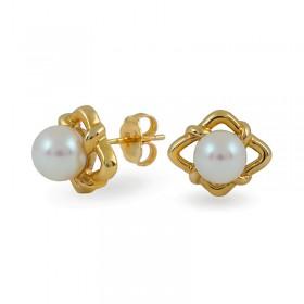 Gold 750 Earrings with Akoya Sea Pearls