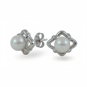 Akoya Gold Earrings 585