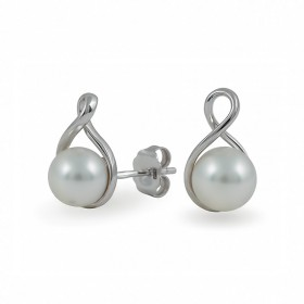 585 White Gold Earrings with Akoya Sea Pearls