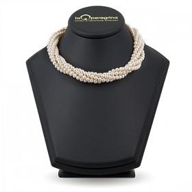 """Ожерелье из натурального жемчуга ААА 5,0 - 5,5 мм с замком """"магнит"""" из ювелирного сплава"""