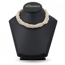 Necklace made of natural pearls AAA 5.0 - 5.5 mm with a magnet lock made of jewelry alloy