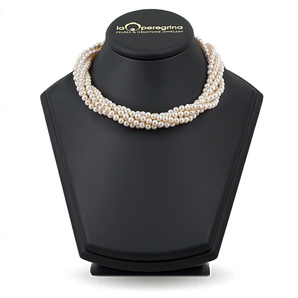 """Ожерелье-жгут из натурального жемчуга ААА 5,0 - 5,5 мм с замком """"магнит"""" из ювелирного сплава"""