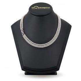 Тройное ожерелье из натурального жемчуга ААА 3,0 - 3,5 мм