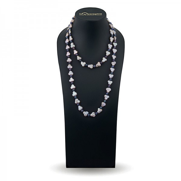 Baroque pearl necklace multicolor