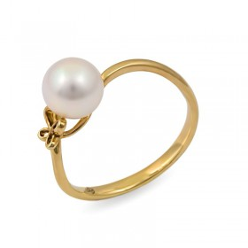 Yellow Gold Ring 750 with Akoya Sea Pearls