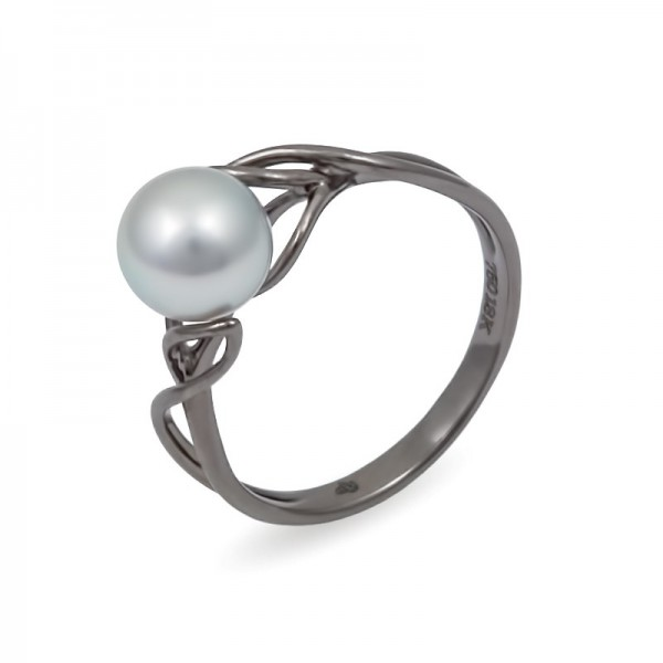 Ring in white gold 750 with Akoya sea pearls