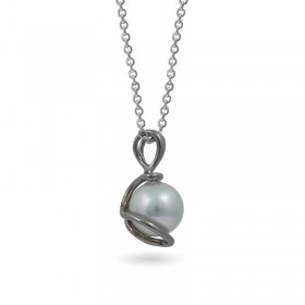 White Gold Pendant 750 with Akoya Sea Pearls