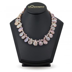 """Ожерелье из натурального пресноводного жемчуга """"барокко"""""""