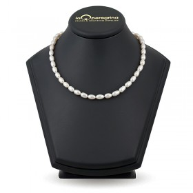 Ожерелье из белого натурального жемчуга 6,5 - 7,0 мм