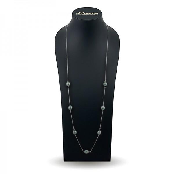 Ожерелье из серебра 925 со вставками из морского таитянского жемчуга