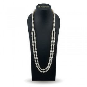 White pearl necklace 140 cm