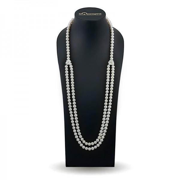 White pearl necklace 140 cm