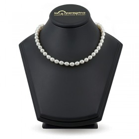 Ожерелье из белого пресноводного жемчуга с замком-подвеской