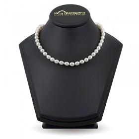 Ожерелье из жемчуга рис 7,0 - 7,5 белого цвета