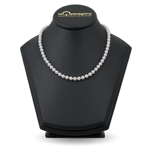 Ожерелье из белого морского жемчуга Акойя 6,5 - 7,0 мм