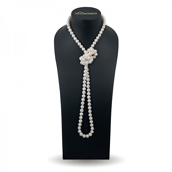 Beads 120 cm from natural pearls AA 9.0 - 9.5 mm