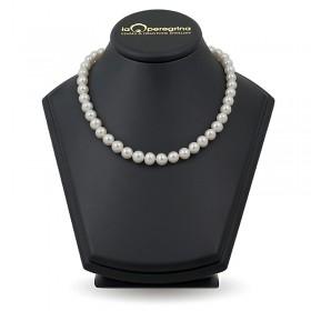 Ожерелье из белого натурального жемчуга АА  9,0 - 9,5 мм