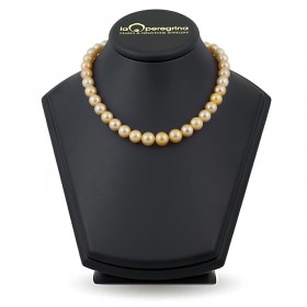 Necklace made of large golden pearls of the southern seas AA + 8.5 - 11.0 mm