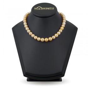 Ожерелье из крупного золотого жемчуга южных морей АА+ 8,5 - 11,0 мм