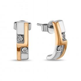 Серьги из золото 585 c бриллиантами