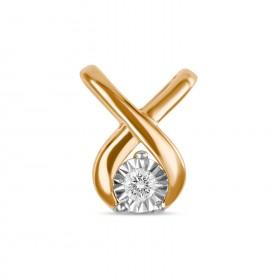 Подвеска из золота 585 пробы с бриллиантами