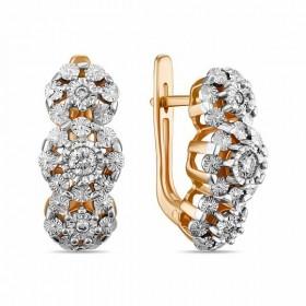 Серьги из золота 585 пробы c бриллиантами