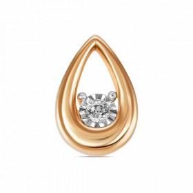 Подвеска из золота 585 пробы с бриллиантом