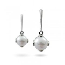 Серьги из серебра 925 пробы с пресноводными жемчугом