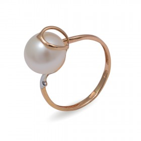 Ring in 585 gold with natural pearls