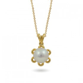 Pendant in 585 gold with freshwater pearls