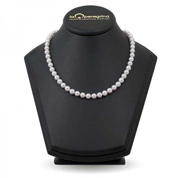 Akoya natural sea pearl necklace 7.5 - 8.0 mm