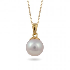 Pendant in 18-karat gold with freshwater pearls
