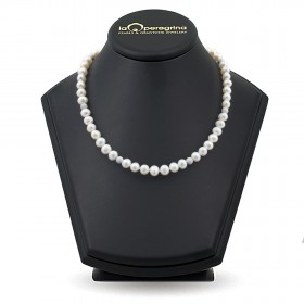 Natural pearl necklace with 925 silver beads