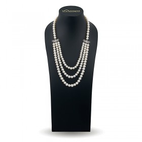 Triple pearl necklace AAA 3.0 - 3.5 mm