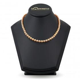 Ожерелье из натурального морского жемчуга Акойя 6,5 - 7,0 мм