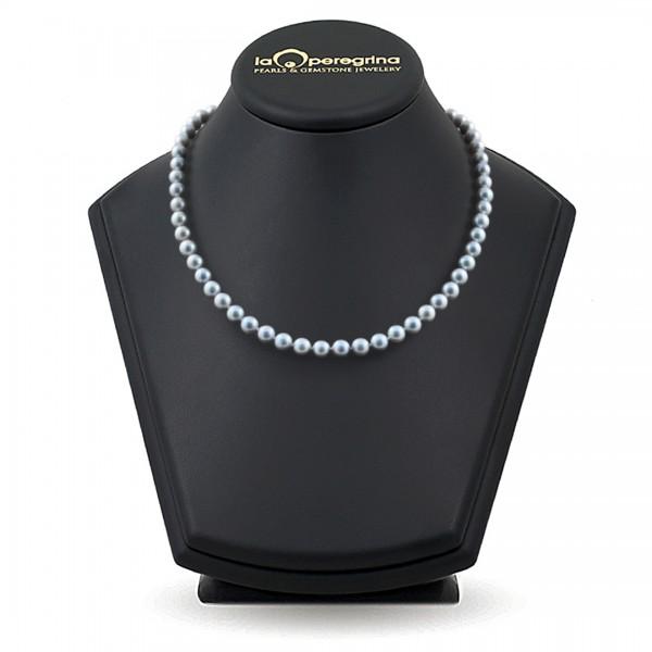 Necklace made of natural Akoya sea pearls 6.5 - 7.0 mm