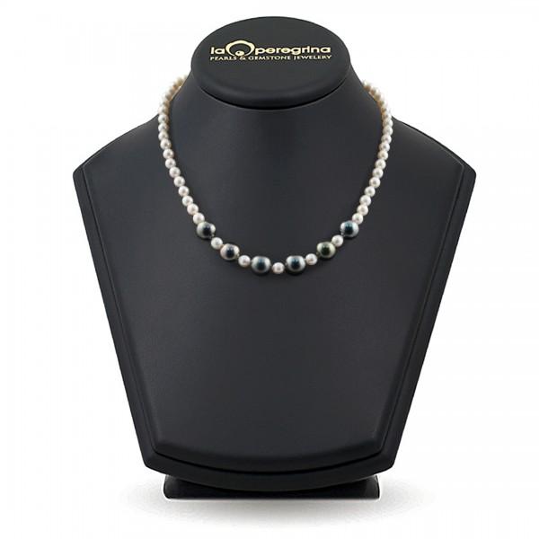 Ожерелье из морского жемчуга Акойя и Таити
