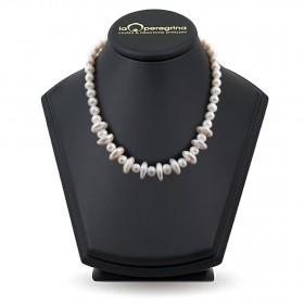 "Ожерелье из белого жемчуга ""Барокко"" формы монета"