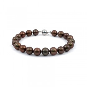 Natural Chocolate Pearl Bracelet