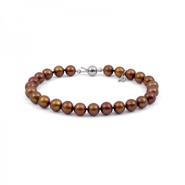 Natural Chocolate Pearl Bracelet