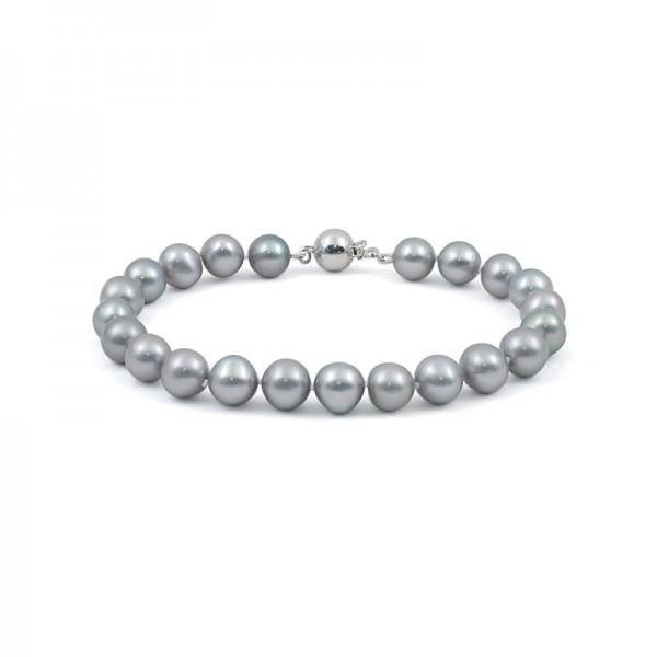 Natural pearl bracelet in metallic color