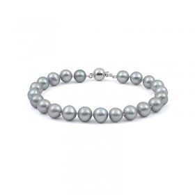 Natural pearl bracelet in metallic color