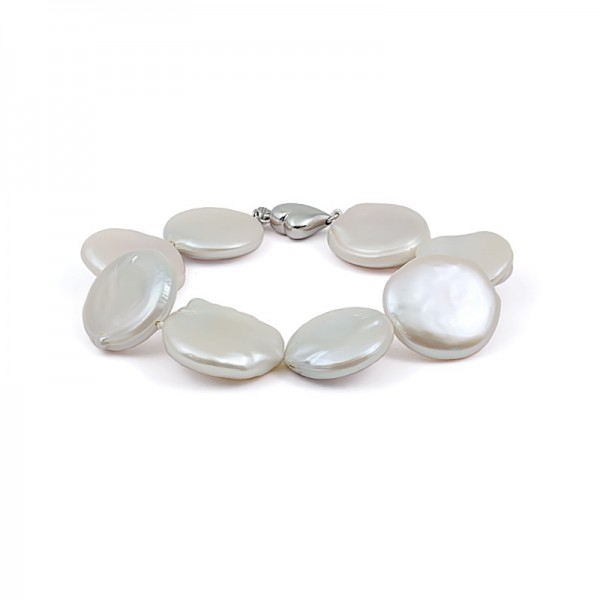White Baroque Natural Pearl Bracelet